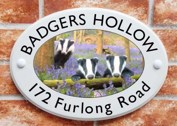 Badgers House Plaque